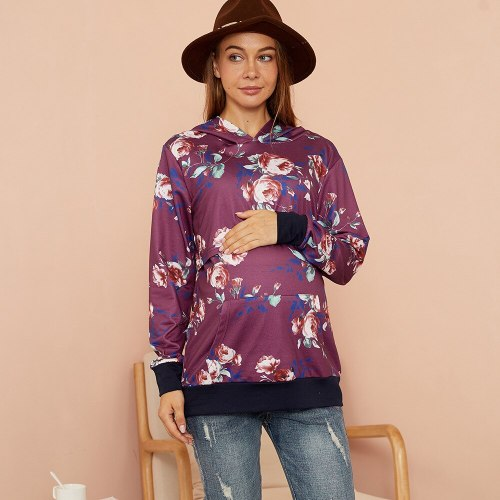 2021 hot style fashion printing multifunctional mother breastfeeding hooded sweater