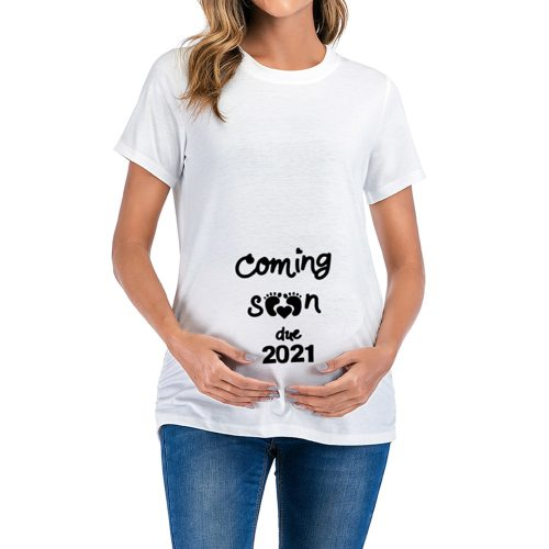 Letter Print Maternity T Shirts Funny Top Pregnant Women Tops O Neck Short Sleeve T Shirt Loose Women Tops Maternity Tees
