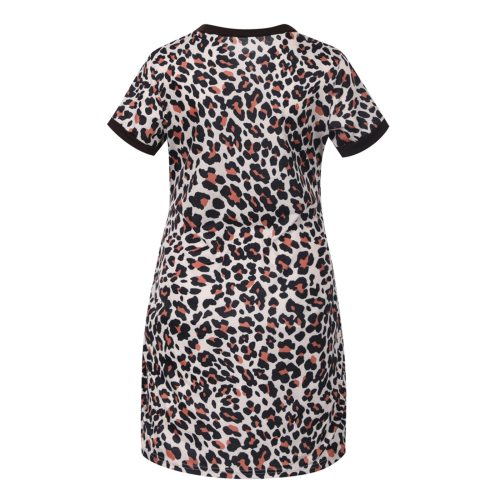 Maternity Dresses Pregnant Women Clothes Short Sleevele Leopard Print Maternity Dress With Pocket Pregnancy Dress Summer