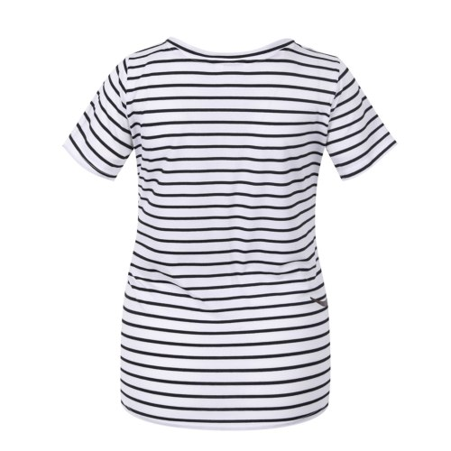Maternity Tops Summer Pregnant Striped T-shirt Short Sleeve Dog Printing Maternity Clothes Tops Breastfeeding Clothes 2021