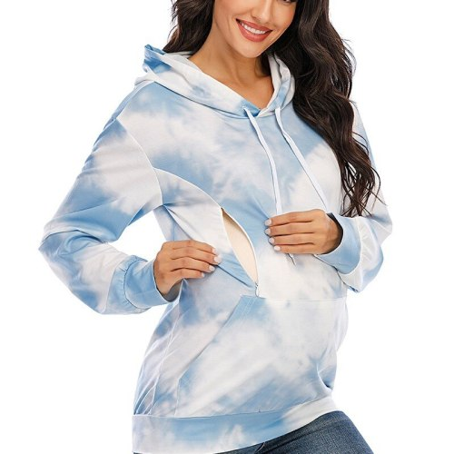 Hoodies For Pregnant Women Lactation Clothes For Nursing Mothers Breastfeeding Aesthetic Oversized Hoodie Maternity Sweatshirt