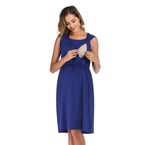 Breastfeeding Maternity Dresses Summer Pregnancy Nursing Sundress Fashion Pregnant Women Casual Vestidos