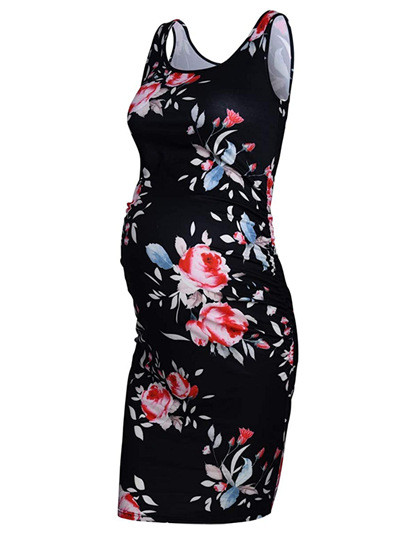 Maternity Women Dress Pregnancy Dresses Mama Clothes  Scoop Neck Pregnant Womens Clothing