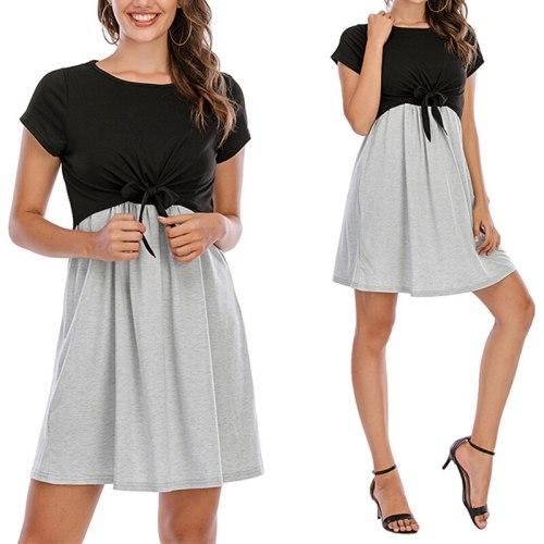 New Summer Maternity Dresses Women Pregnant Stripe Tunic Breastfeeding Fashion Casual Maternity Clothes Nursing Tops Vestidos