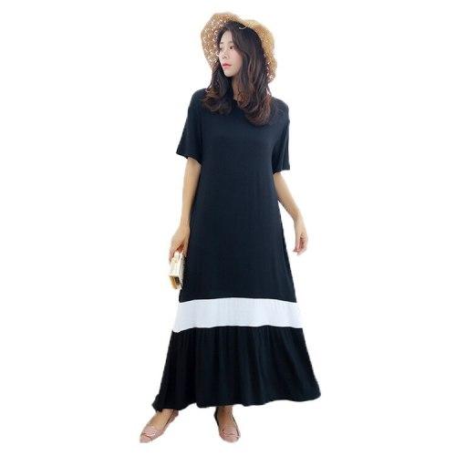 2021 Summer Hot Dresses for Women Pregnant Dress for Women Casual  Mid-Calf Regular O-Neck Pullover
