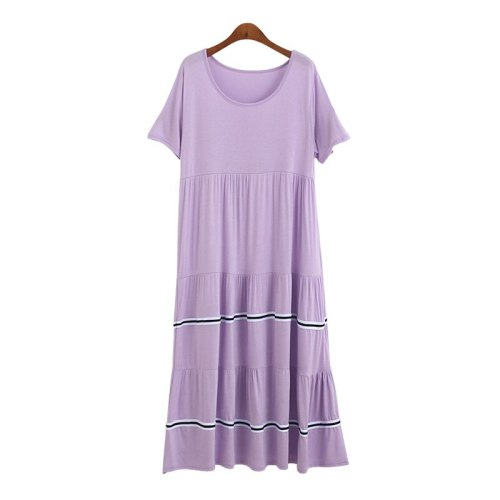 Oversize New Ladys Modal Basic Nightgown Nightie Long Maternity Dress Home Dress Sleepwear Pregnant Night Shirt Loose Nightwear