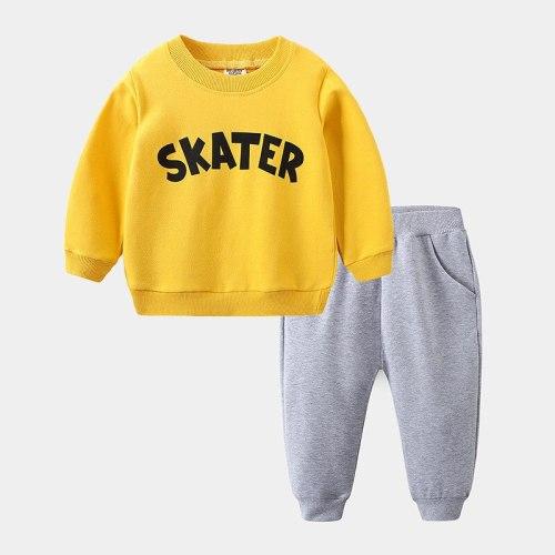 2Pcs/sets Autumn Baby Boy Cotton Children Clothes Infant T Shirt Toddler Sweatshirt Pants Kid Tracksuits
