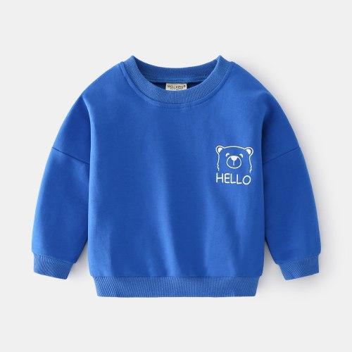 Printed Breathable Children's Casual Sweatshirt 2021 Fall Long Sleeve Round Neck Boys Sweatshirt boys clothes