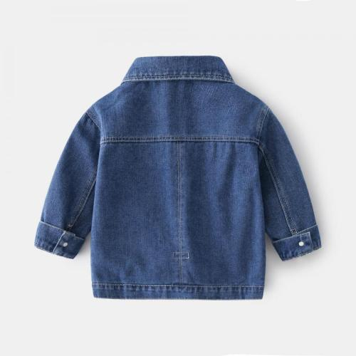 Autumn 2021 Boys Denim Coats New Fashion Children Clothes Long Sleeve Toddler Jackets 2-6 Years Old Spring Cotton Infants Outfit