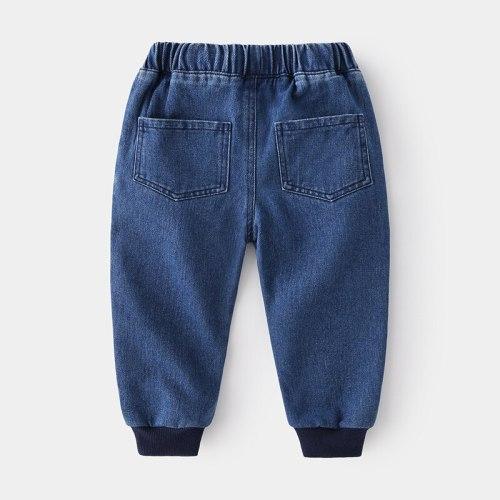 Boys Jeans Kids Cartoon Dinosaur Clothes Pants Denim Children's Clothing Baby Boy Casual Boy Long Trousers 1-7 Years