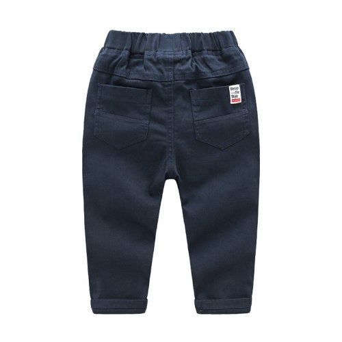 Boys Pants Kids School Uniform 2 To 8 Years Children's Casual Pant Baby Embroidered Sweatpants 2021 Spring Fall Korean Style