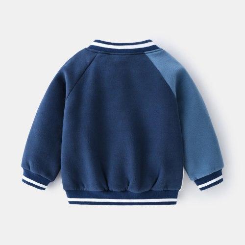 2021 Fall Fashion Boys Baseball Shirt Kids Street Casual Jacket Round Neck Baseball Shirt jackets for girls