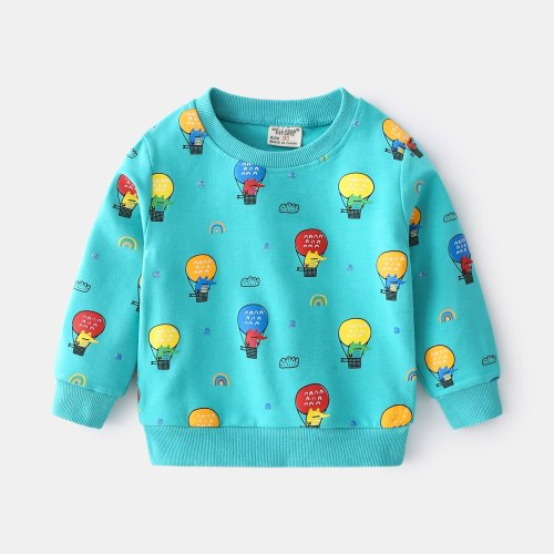 2021 Long Sleeve Letter Printing Children Clothes Spring Casual Baby Boys Sweatshirt Homewear Kids Tops All-Match Clothing