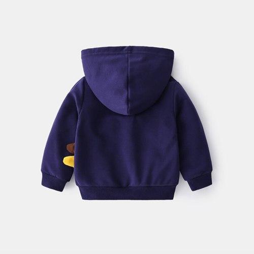 2021 Spring New Cartoon Dinosaur Baby Boy Jacket Casual Printing Kids Hoodie 1-6 Years Hooded Children Clothes Cute Kid Coat