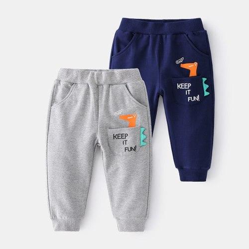 New 2021 Boys Fashion Pants Spring Autumn Cartoon Dinosaur Sweatpants Kids Children Casual Harem Pants Cotton Sports Trousers