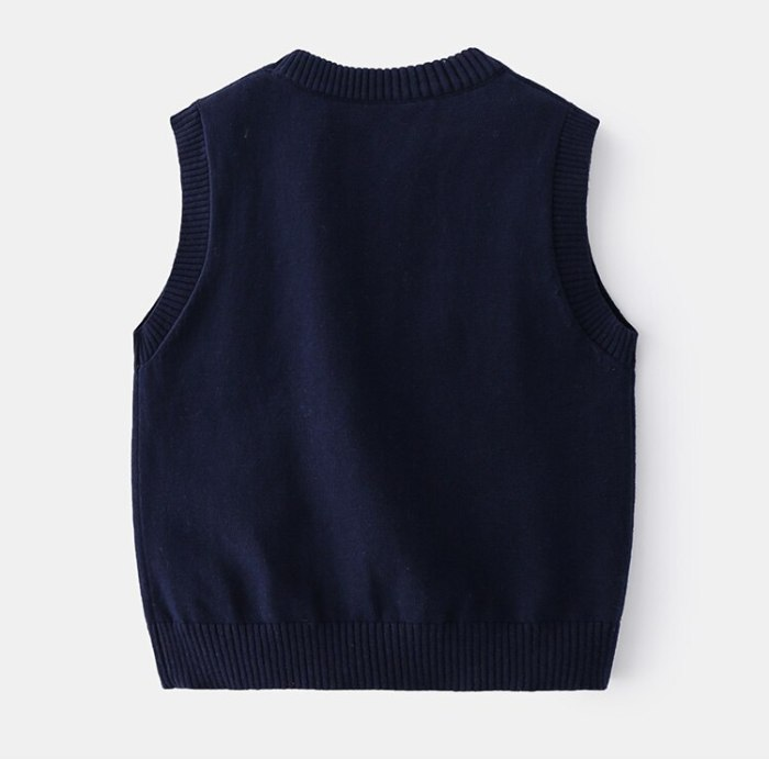 Spring Children's Clothing O-neck Cotton Winter Knitted Sweater Vest for Girls Clothes Baby Boys Waistcoats