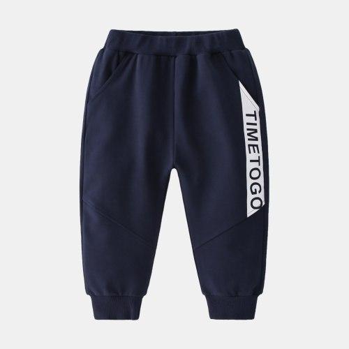 Letter Print Boys New Sports Pants 2021 Spring Autumn Casual Trousers Boys School Sweatpants Kids Cotton Loose Pants
