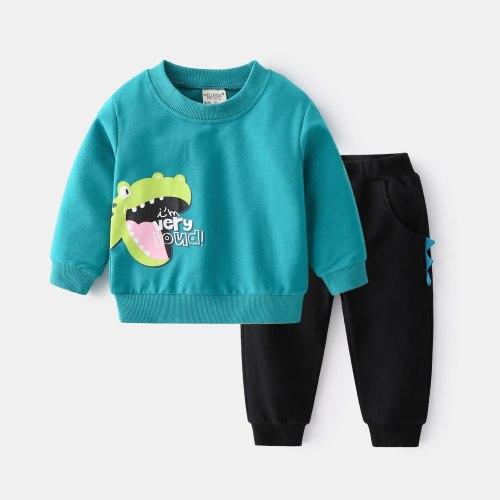 2Pcs Boys Clothes Children's Clothing 2021 Autumn Long Sleeve Suits Tops+Pants Baby Kids Clothes Set
