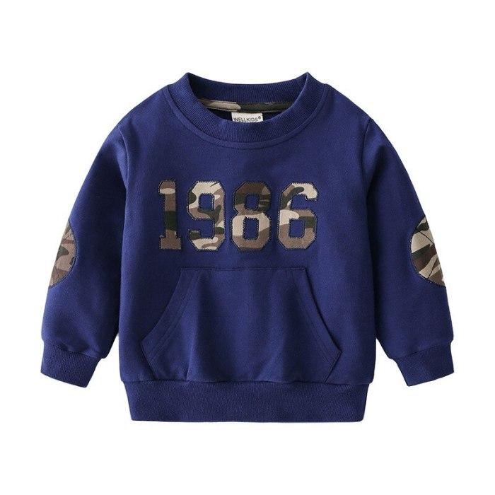 New 2021 Kids Spring Autumn Fashion Sweatshirt Boys Letter Print O-neck Pullover Tops Children Hoodies Sweatshirts Clothing
