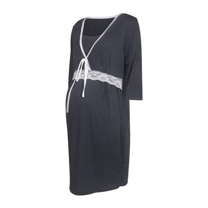 Women's Clothes Maternity Sleepwear Pregnant Women's Pajamas Breastfeeding Clothes Fashionable Elegant Maternity Clothes