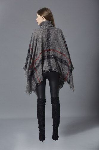 Maternity Sweater Women Fringed Stripe Knit Pullover Sweaters Cape Coat High Collar Vintage Shawl Scarf Panchos Female Winter