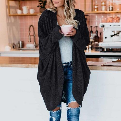 Maternity Oversized Loose Women's Knitted Long Cardigan Sweaters 2021 Fashion Batwing Long Sleeve Knitwear Coats S-5XL