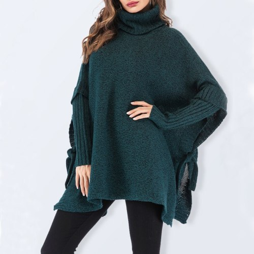 Fashion Oversized Turtleneck Long Knit Maternity Sweaters Women Loose Plus Size Knitted Pullovers Winter Office Ladies Pink Sweaters