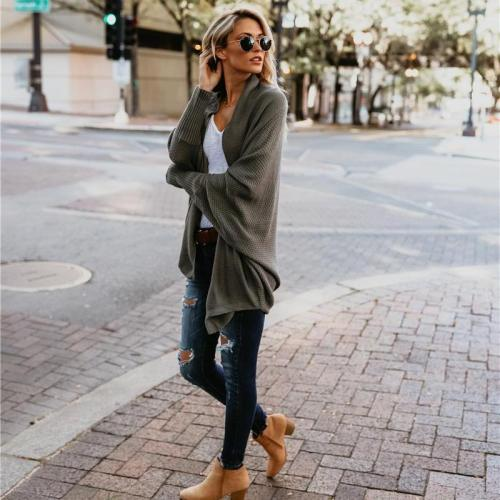 Maternity Women Batwing Sleeve Cardigan Sweaters Autumn And Winter Ladies Fashion Long Sweater Wide Sleeves Solid Coat Spring Lady Clothes
