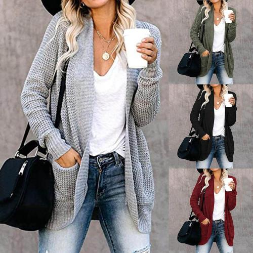 Maternity Long Sweater Cardigan Women's Long-sleeved Cardigan Sweater Coat With Pockets