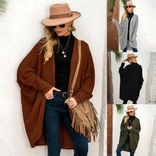 New Pregnant ladies autumn and winter fashion office leisure explosions knitted cardigan coat plus size loose long sweater women