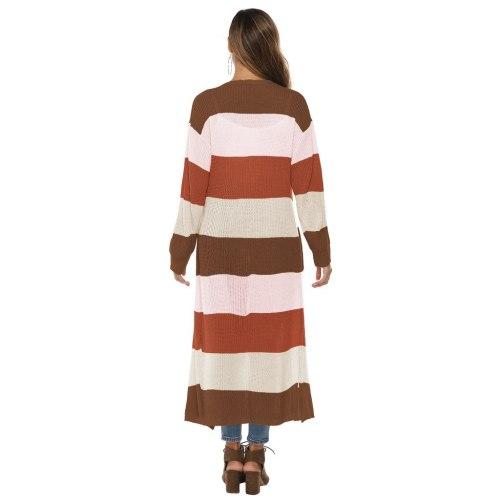 Maternity Women Long Sleeve Patchwork Open Cape Casual Coat Blouse Kimono Jacket Cardigan
