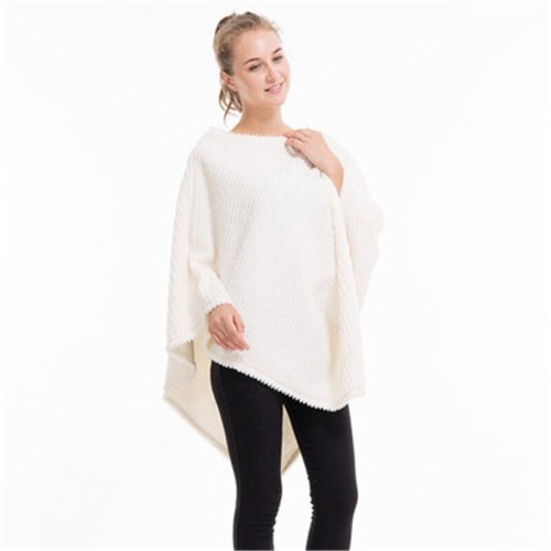 New Pregnant Woman Fashion Poncho Plus Size scarf Cotton Sweater Casual Pullover Lady Shawl Warm Thick Poncho And Caps