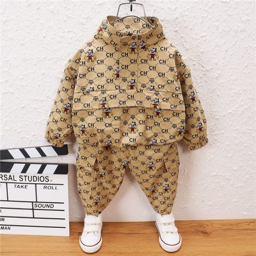 0-5 Year Spring Autumn Boy Girl Clothing Set 2021 New Fashion Active Letter Top+Pant Kid Children Baby Toddler Boy Girl Clothing