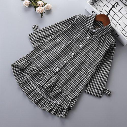 2-6 years High quality girl dress 2019 new spring fashion England Style plaid pattern kid children girl clothing princess dress