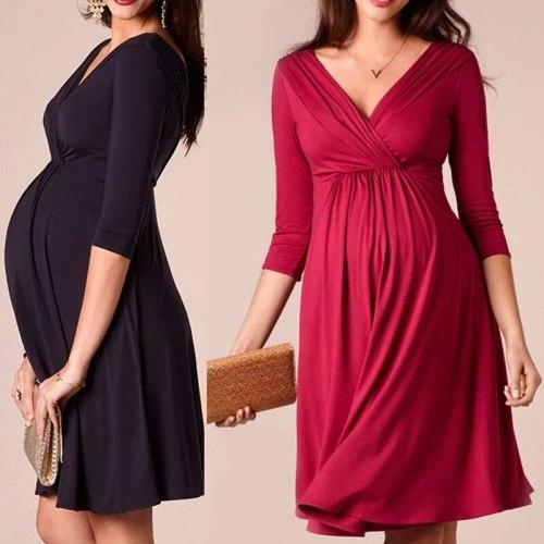 Fashion Maternity Dresses Pregnancy Dress Pregnants Summer Breastfeeding Clothes Nursing Maternity Clothes for Pregnant Women