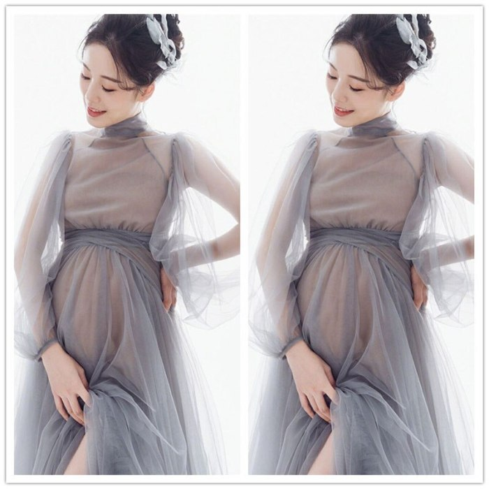 Fancy Summer Maternity Dress 2021 Pregnancy Photo Shooting Dress Tulle Baby Shower Dress Pregnant Women Clothes For Photography