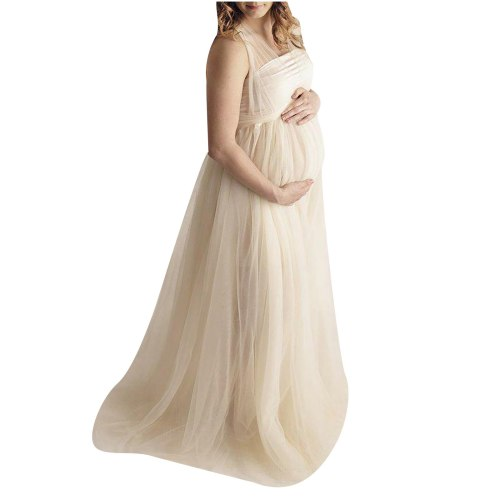 Women Props Clothes Pregnant Lace Long Splicing Tie Dress Maternity Photography breastfeeding clothes одежда для беременных