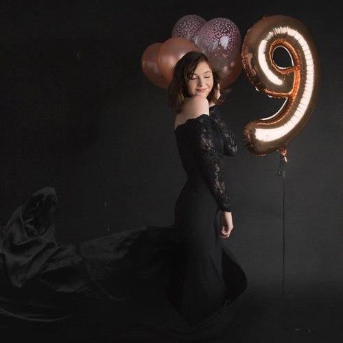 Slash Neck Maternity Maxi Dress Stretchy Cotton Baby Shower Long Dress Pregnancy Photography Bodycon Dress