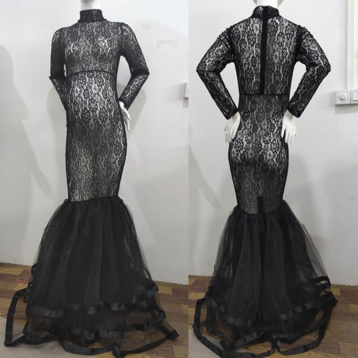 2021 Long Sleeve Maternity dresses Lace Maxi Dress Photography Props Dresses splice Mesh pregnancy Dress For Photo Shoot Clothes