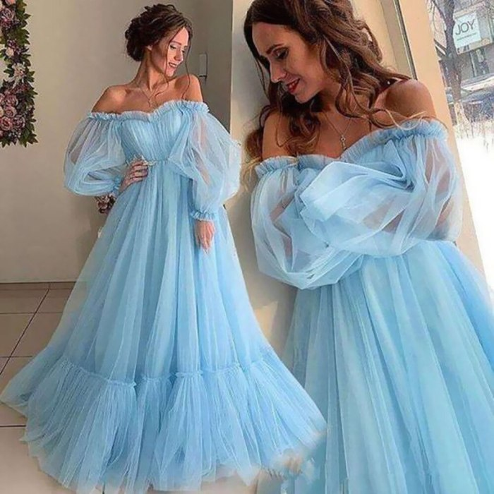 Women Tulle Long Dress Sexy Off-shoulder Pregnancy Photo Shooting Maxi Dress Baby Shower Maternity Photography Dress Party Robe