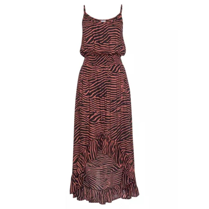 Brand Zebra Print Boho Dress Women Spaghetti Strap Beach Summer Dress Sexy Slash Collar Irregular Long Dresses Vestido De Mujer