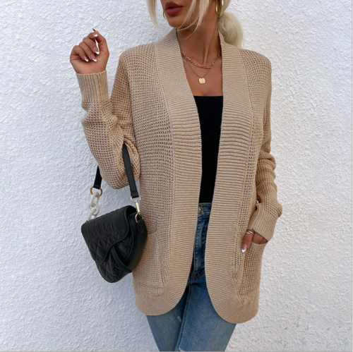 Korean Style Clothes Sweater Winter Pocket Knit Cardigan Jacket Women Vintage Cardigan Tops 2021 Sweaters for Women Fashion