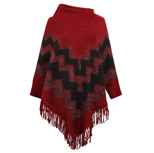 Long Sleeve Women's Sweater Casual Tassel Female Shawl Hem Fringe Ladies Sweater Jackets Knitted Loose Pullover Autumn Winter