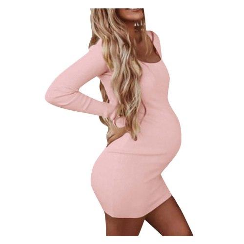 Pregnant Women Clothes Sexy Long Sleeve Round Neck Maternity Dress pregnancy dress robe maternite grossesse