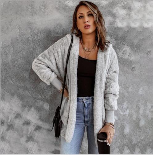 Most Popular Women Autumn Winter women Coat warm soft outfit hoodie girl's gift zipper Casual sweatshirts