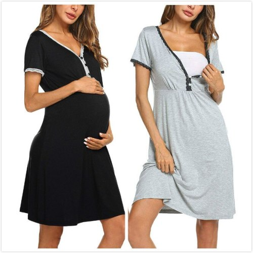 European and American women's sexy lace dress for pregnant women