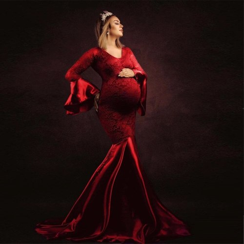 Maternity Photography Props Dresses Fancy Pregnancy Dress Elegence Long Pregnant Women Maxi Gown Clothes For Photo Shoots