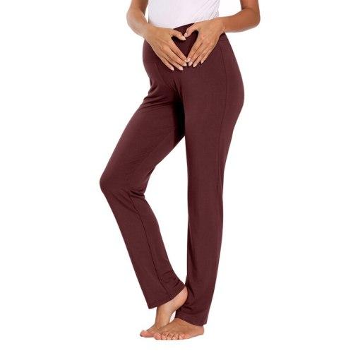 Women Maternity Active Pants Drawstring Yoga Jogger Workout Pregnancy Sportwear Sweatpants With Pockets Pregnant Clothes