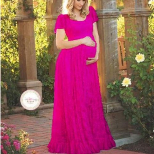 2021 Women White Skirt Maternity Photography Props Lace Pregnancy Clothes Maternity Dresses For pregnant Photo Shoot Clothing