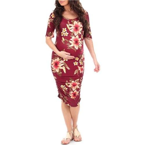 2021 New Summer Maternity Flower Dress Pregnant Women Tank Dress Mama Pregnancy Floral Dresses Casual Flower Women Dress